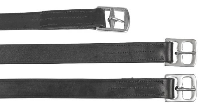 Hofman Strzemię Pasek ze skóry 25mm x 130cm czarny