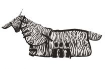 MHS Fly Rug Zebra with Neck and Mask