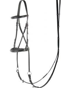 Harry's Horse Bridle Bezkostne szczęki krzyżowe, czarne