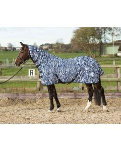 Harry's Horse Siatka tropiku z kołnierzem i taśmą, średniowieczna zebra w kolorze niebieskim