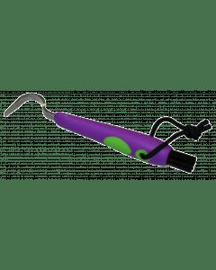 Hofman Zabawny kilof do kopyt + szczotka fioletowo-zielony