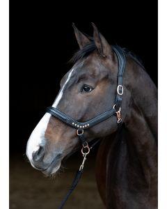 Harry's Horse Kantar anatomiczny ze skóry Rosegold