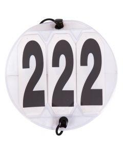 Numery startowe Okrągłe białe