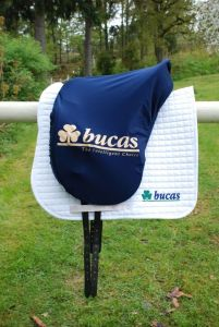 Bucas  Max Saddle Cover. Shaped. Navy.Bucas Logo