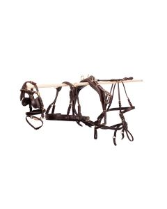 MHS Leather Single Harness Black