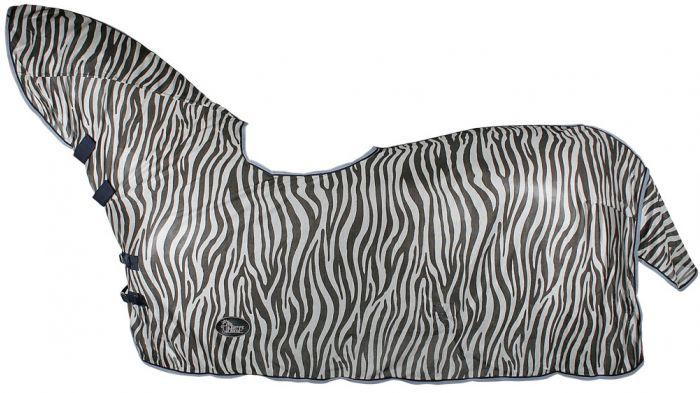Harry's Horse Siatka na muchy, wgłębienie na szyję i siodło, zebra szary