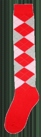 Excellent Podkolanówki RE czerwony / różowy / szary 43-46