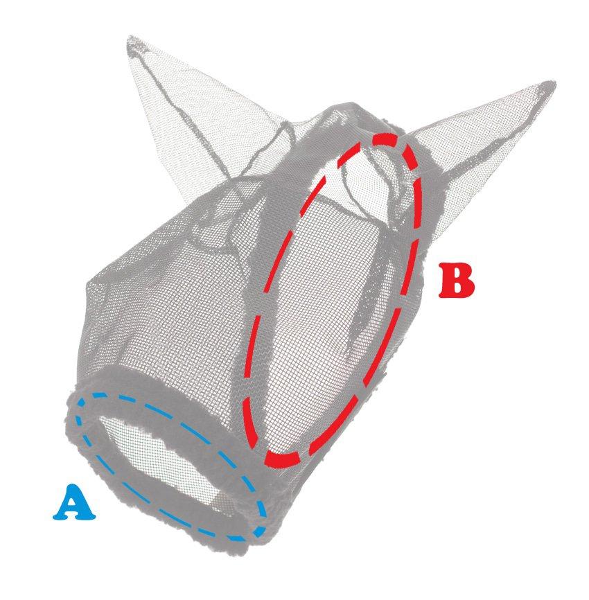Maattabel Vliegenmaskers